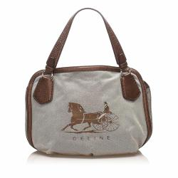 Celine Carriage Canvas Tote Bag