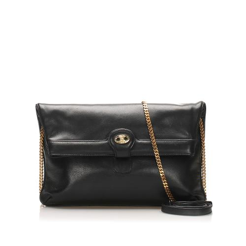 Celine Chain Leather Crossbody Bag