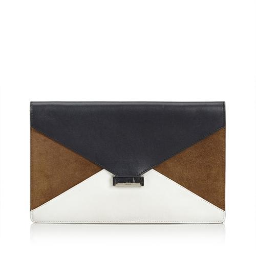 Celine Diamond Leather Clutch