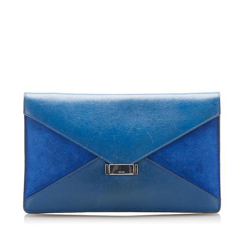 Celine Diamond Leather Clutch Bag