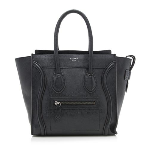 Celine Drummed Leather Micro Luggage Tote