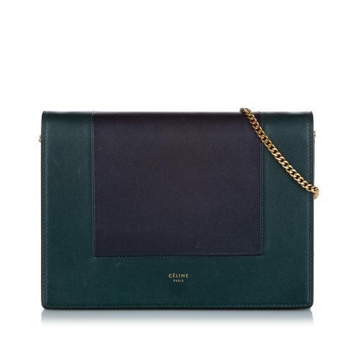 Celine Frame Leather Wallet On Chain