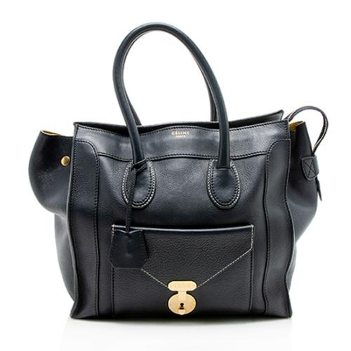 Celine Grained Calfskin Envelope Luggage Mini Tote