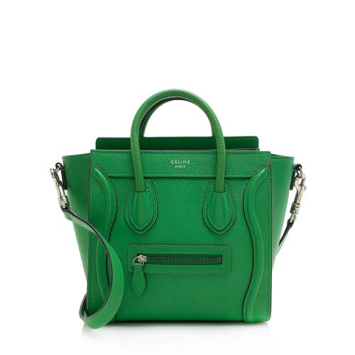 Celine Grained Calfskin Nano Luggage Tote