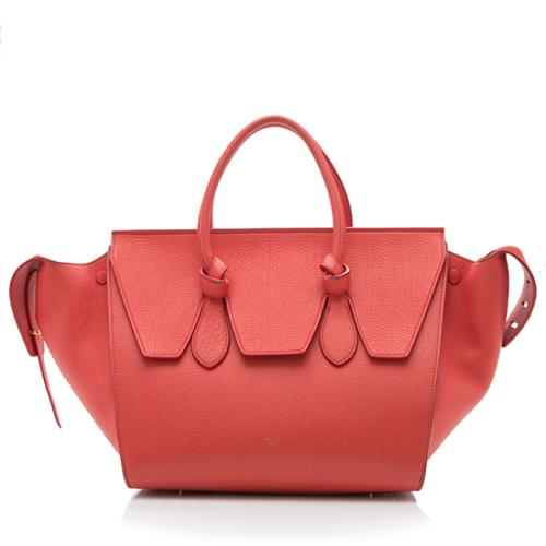 Celine Grained Calfskin Small Tie Tote