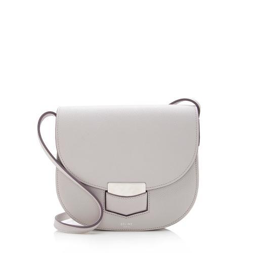 Celine Grained Calfskin Trotteur Small Shoulder Bag