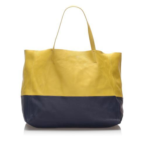 Celine Horizontal Cabas Leather Tote Bag
