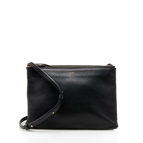Celine Lambskin Large Trio Crossbody Bag