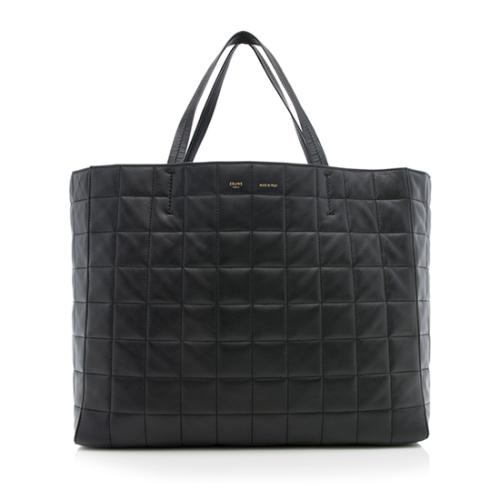 Celine Lambskin Quilted Cabas Tote