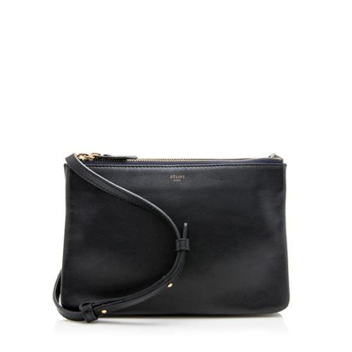 Celine Lambskin Small Trio Crossbody Bag