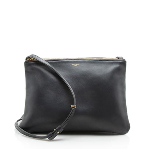 Celine Lambskin Trio Small Crossbody Bag