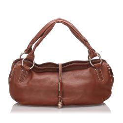 Celine Leather Bittersweet Hobo