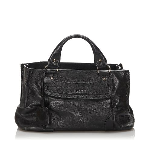 Celine Leather Boogie Satchel