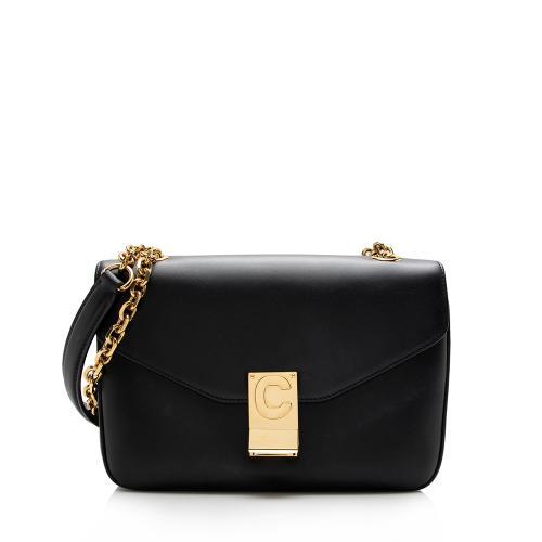 Celine Leather C Medium Shoulder Bag