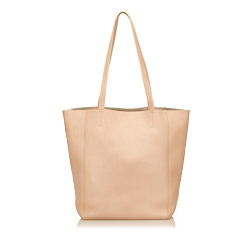 Celine Leather Cabas Phantom Tote