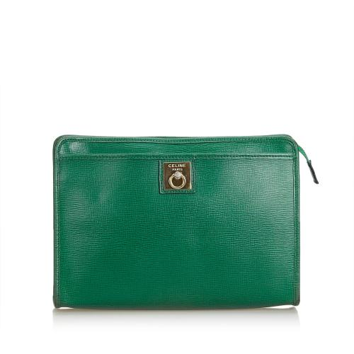 Celine Leather Clutch