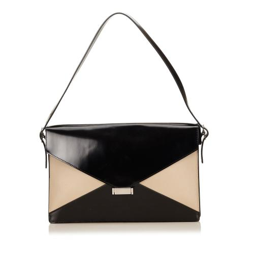 Celine Leather Diamond Shoulder Bag