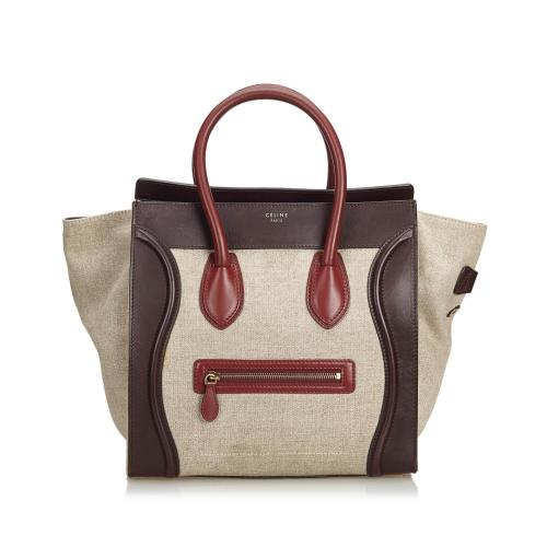 Celine Leather Luggage Tote Bag