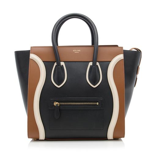 Celine Tricolor Calfskin Mini Luggage Tote
