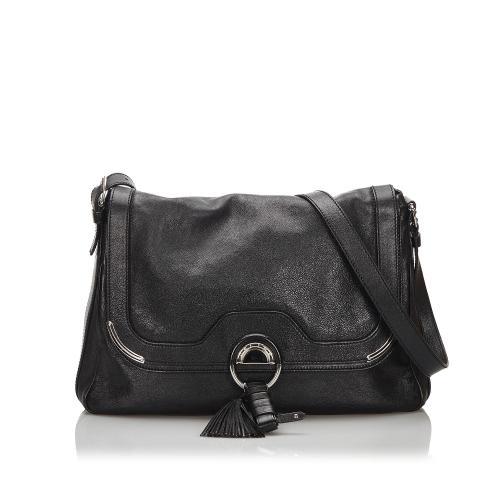 Celine Leather Tassel Shoulder Bag