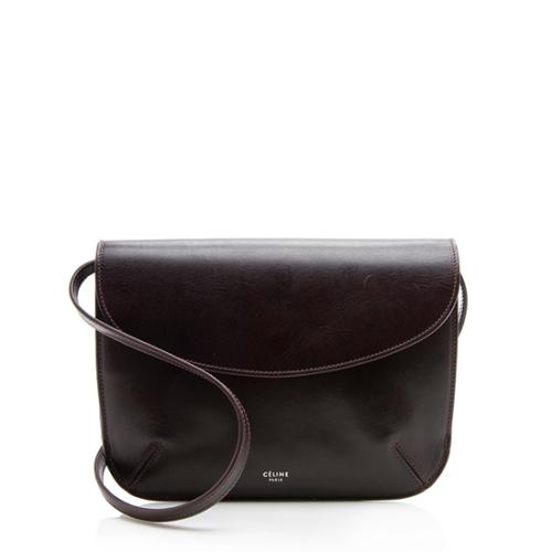 Celine Leather Vegetal Pouch Crossbody Bag
