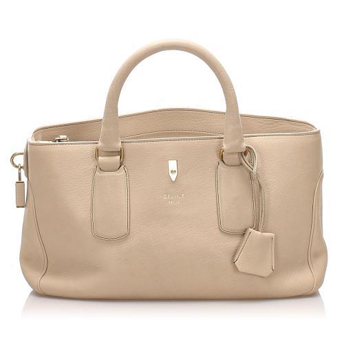 Celine Lock Leather Handbag