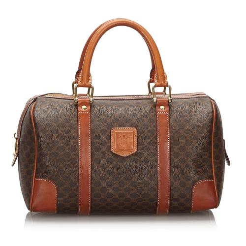 Celine Vintage Macadam Boston Bag