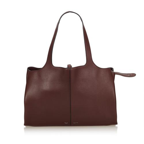 Celine Calf Leather Trifold Medium Shoulder Bag