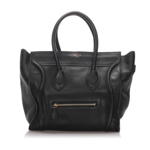 Celine Leather Medium Luggage Tote