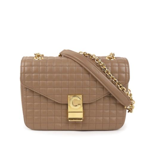 Celine Quilted Leather Medium C Bag