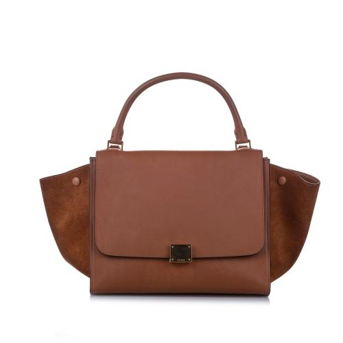 Celine Medium Trapeze Leather Satchel
