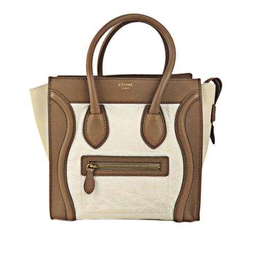 Celine Leather Micro Luggage Tote