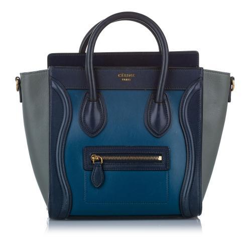 Celine Nano Luggage Leather Satchel