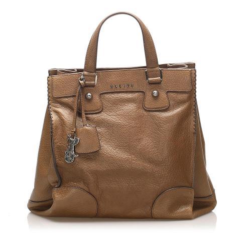 Celine Orlov Leather Tote Bag
