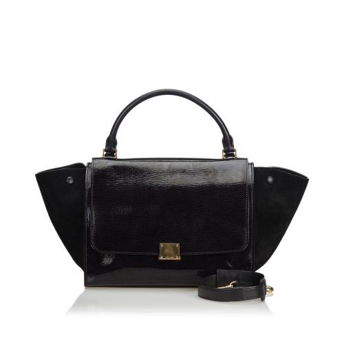 Celine Patent Leather Medium Trapeze Bag