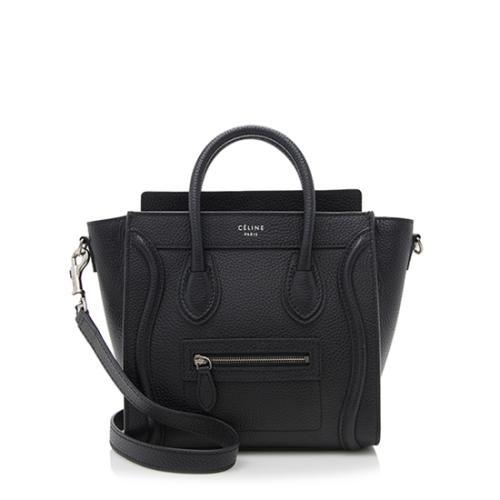 Celine Pebbled Leather Nano Luggage Tote