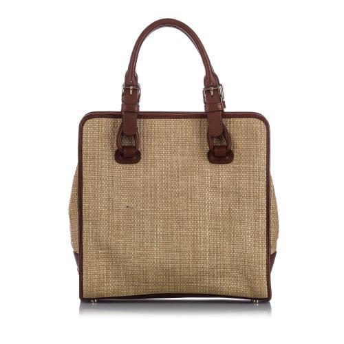 Celine Raffia Tote Bag