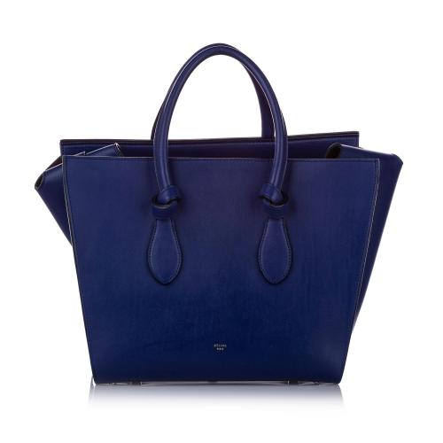 Celine Leather Small Tie Tote