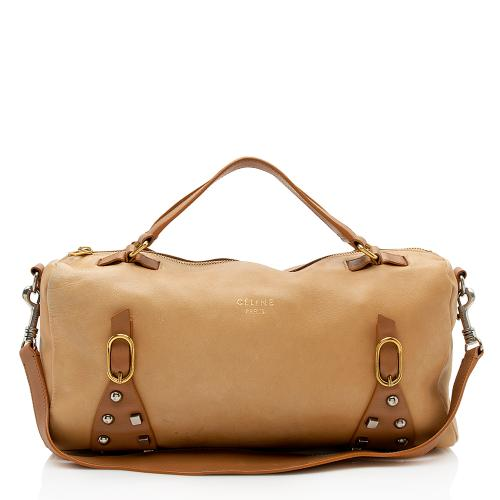 Celine Studded Leather Satchel