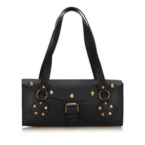 Celine Studded Leather Shoulder Bag