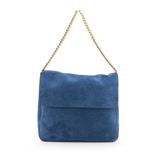 6f3696b3ace Celine-Suede-Gourmette-Chain-Fold-Over-Shoulder-Bag 98691 front large 0.jpg