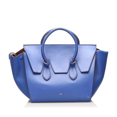 Celine Tie Tote Leather Handbag