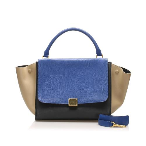 Celine Trapeze Leather Satchel