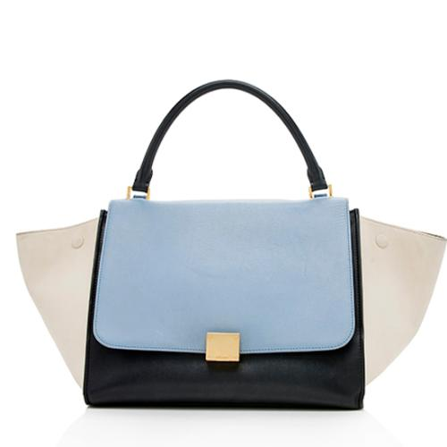 Celine Tricolor Calfskin Trapeze Medium Bag