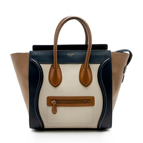 Celine Tricolor Calfskin Mini Luggage Tote - FINAL SALE