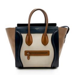 Celine Tricolor Calfskin Mini Luggage Tote
