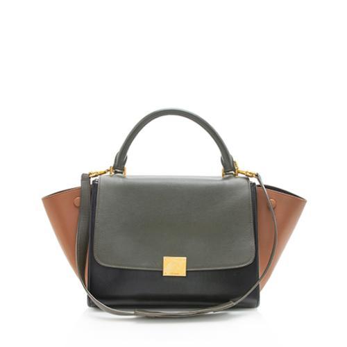 Celine Tricolor Calfskin Small Trapeze Bag
