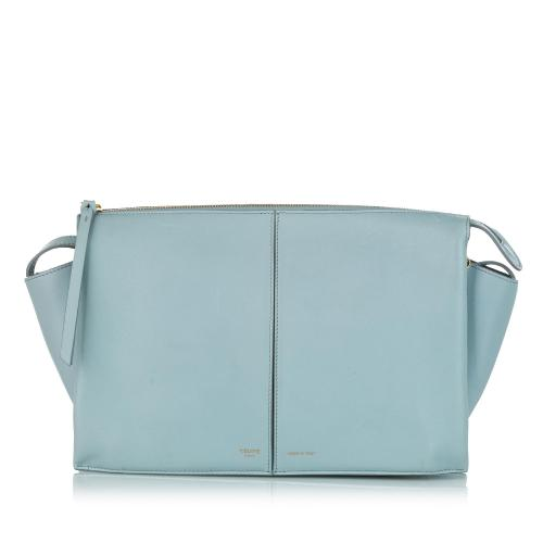 Celine Trifold Leather Crossbody Bag
