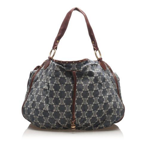 Celine Triomphe Denim Handbag