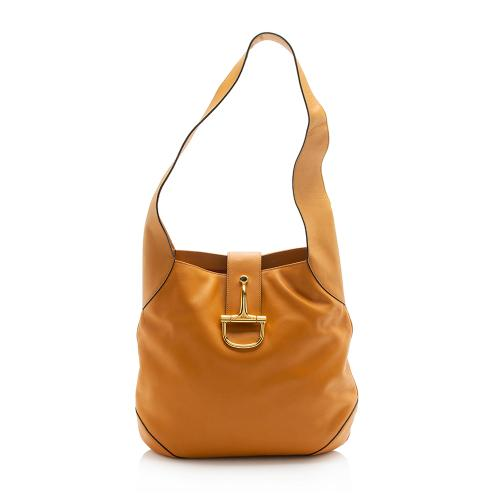 Celine Vintage Leather Horsebit Shoulder Bag